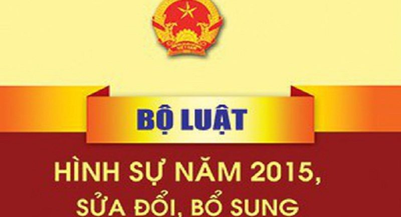 Bộ luật hình sự 2015 (sửa đổi, bổ sung 2017)