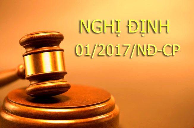 Nghị định 01/2017/NĐ-CP hướng dẫn trong việc công nhận, cấp GCN QSDĐ